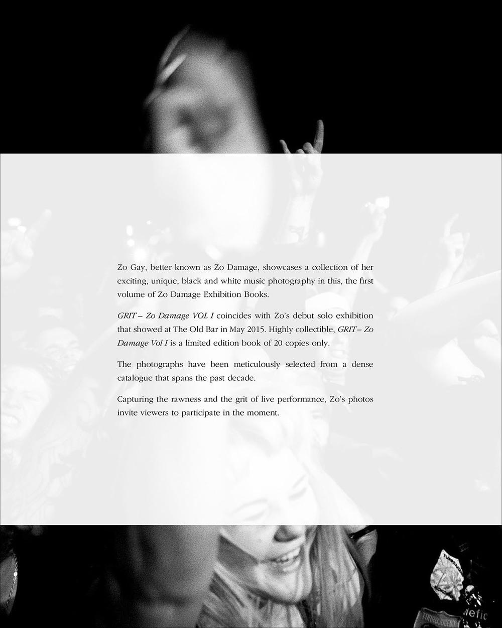 GRIT – Zo Damage Vol I Back Cover