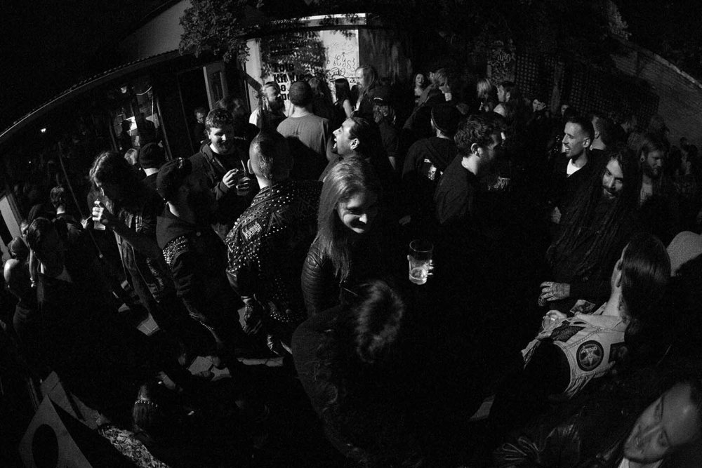 "Full House Between sets at The Tote for Blunt Shovel's ""Get In The Ground"" album launch.   Day 360/366 - Zo Damage 365 Day Project."