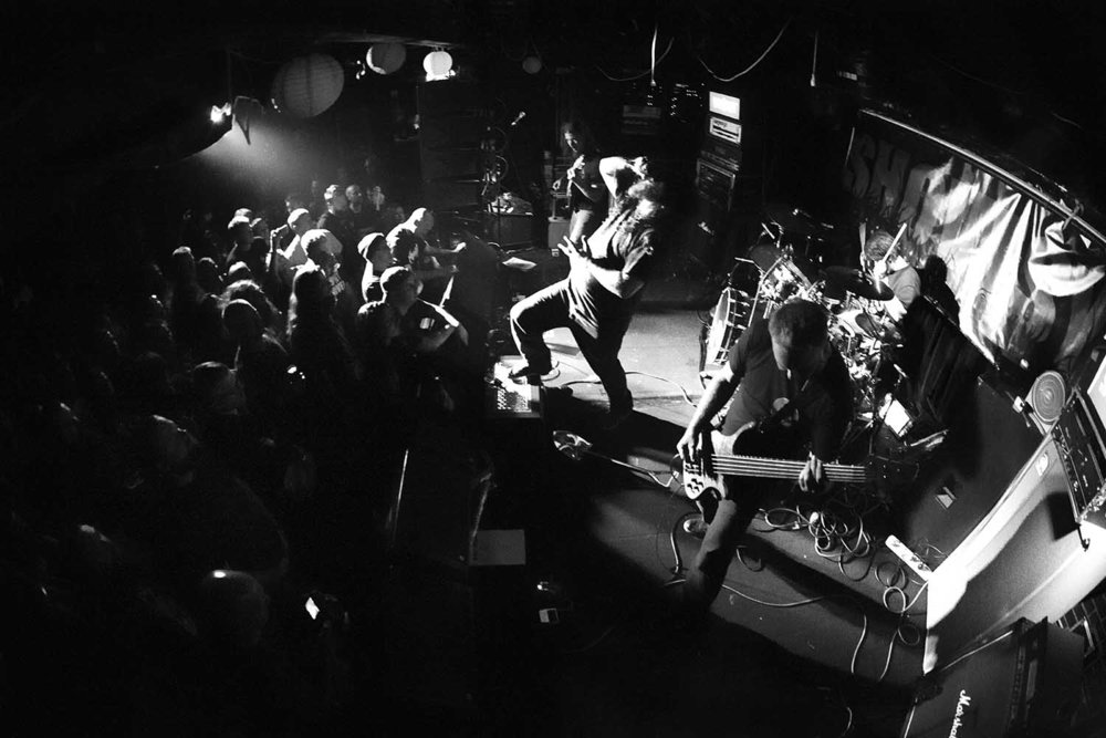 "Blunt Shovel smashed it at their ""Get In The Ground"" album launch at The Tote.  Day 360/366. Zo Damage 365 Day Project"