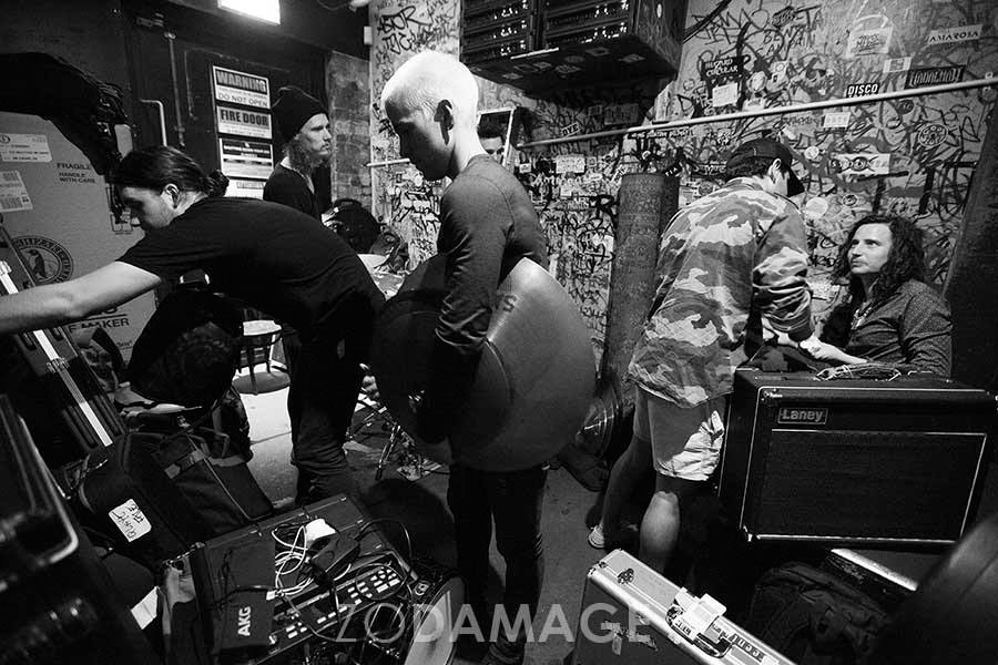 17 February 2017 – Day 359/365 – Back stage with Mother's Cake and Alithia at the Evelyn Hotel, Fitzroy – Zo Damage 365 day live music photography project. View project  HERE .