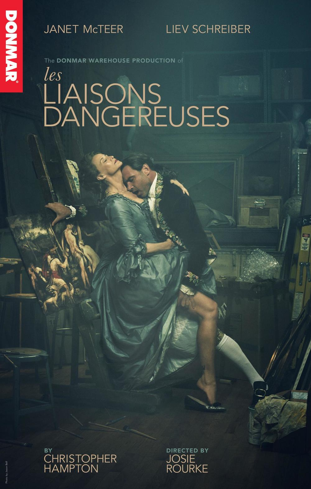 Title treatment, key-art design and execution for the 2016 revival of Les Liaisons Dangereuses starring Janet McTeer and Liev Schreiber.  Creative Direction: Vinny Sainato, Tom Callahan Photographer: Jason Bell