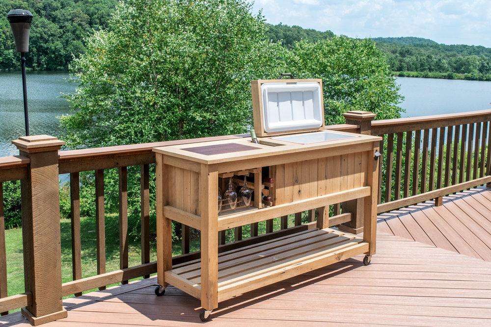 Outdoor Bar Cart. Bar Cart With Cooler