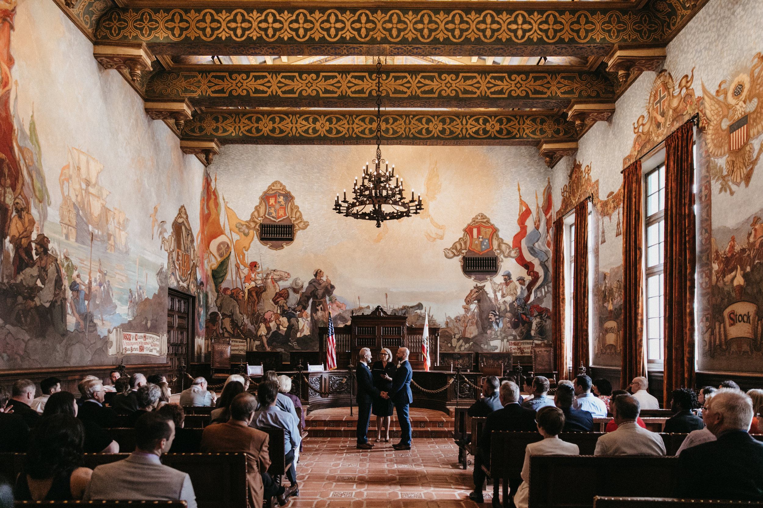 Gage And Michaels Santa Barbara Courthouse Wedding The