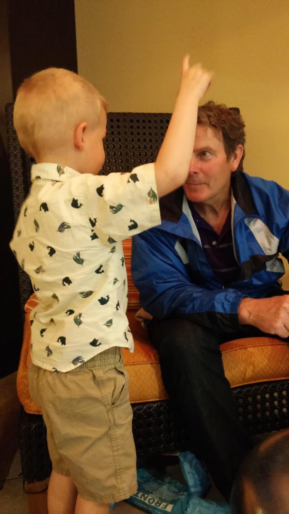 "How to get on Ewan's favorites list? Listen to him. Very few people listen to Ewan like ""Papa""."
