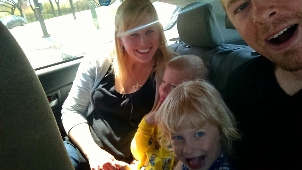 The kids' first taxi ride