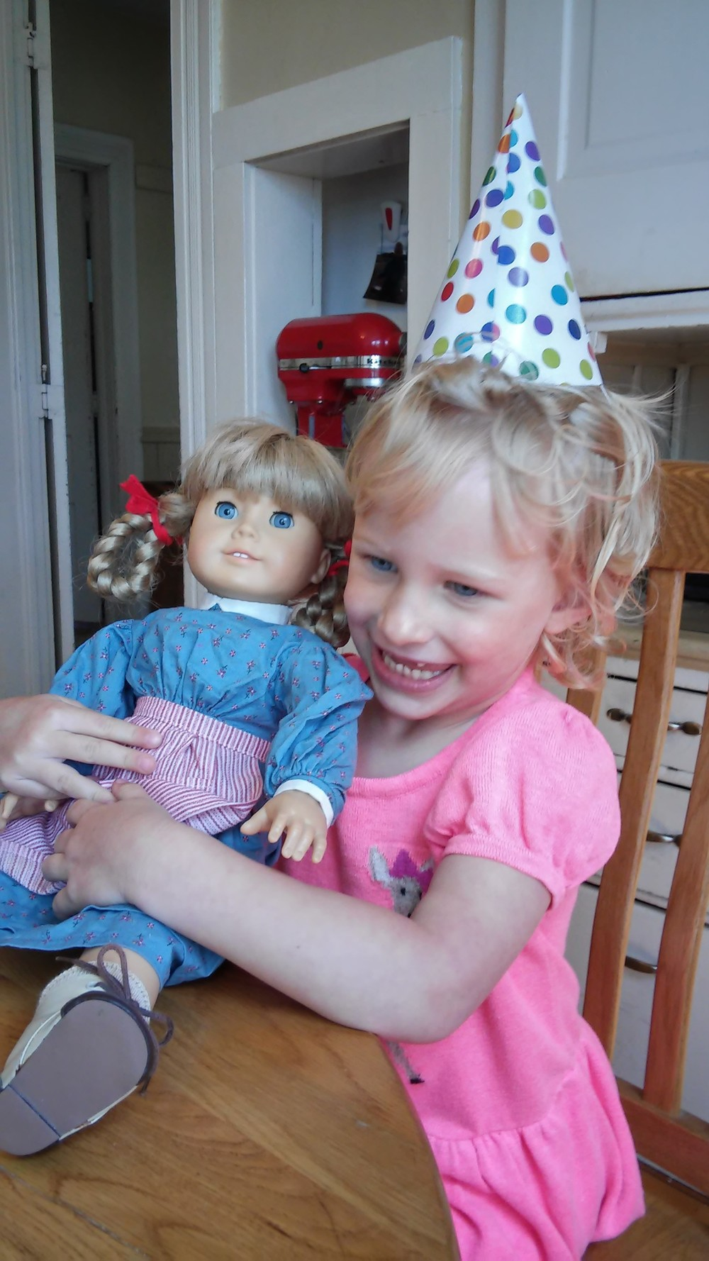 Elyse and her folks gave Hannah her childhood doll.  She has a new favorite for sure!