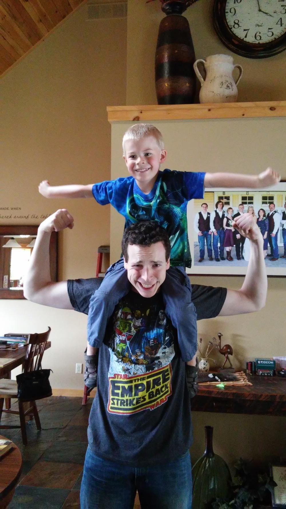 Chad and Ewan rocking their new Star Wars shirts.