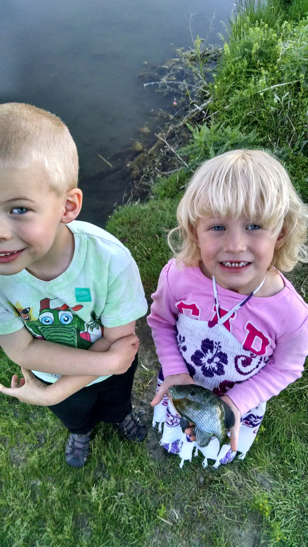 The kids got some great fishing in before the heat set in on us.