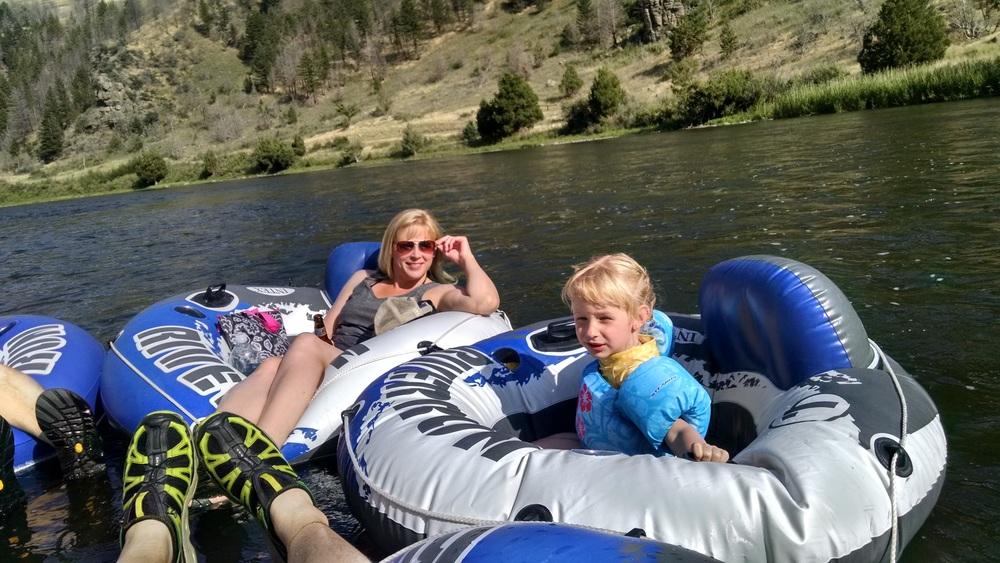 """We floated the Madison river with Scott & Bri. The kids had a blast and there was only one """"code brown"""" scare."""