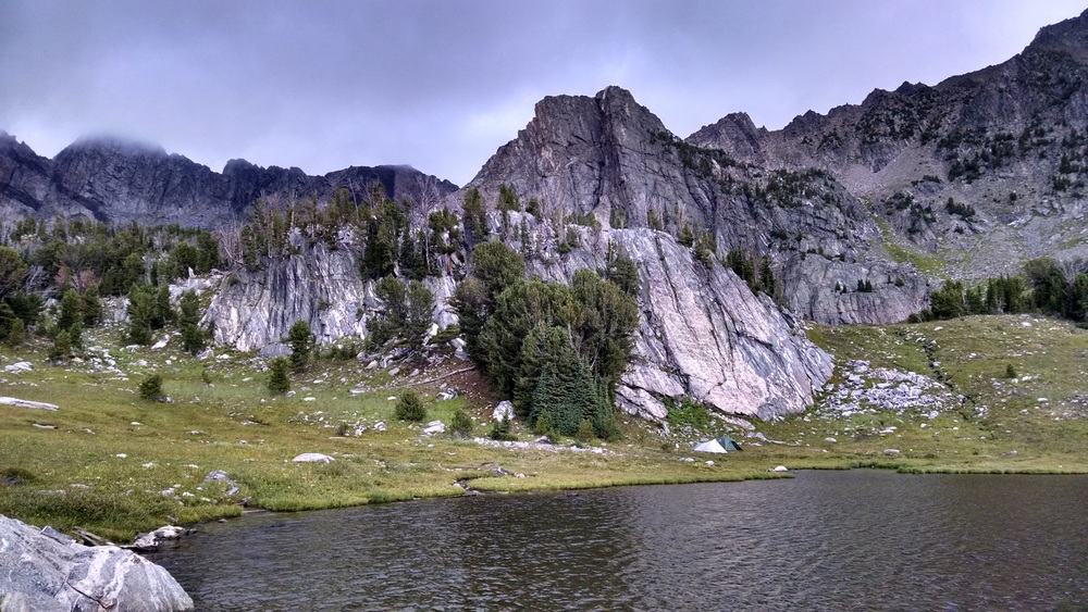 Of all the campsites we've had this summer, Beehive Basin is a hard one to beat.