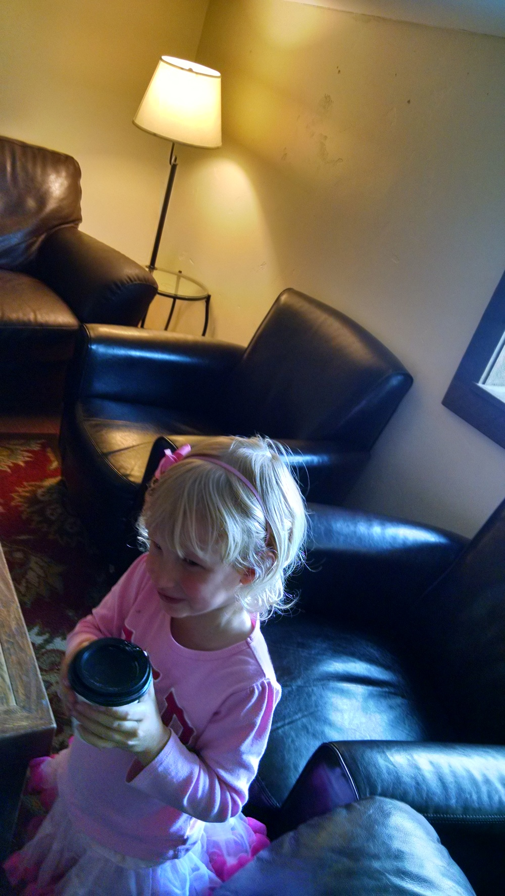 Hannah prefers coffee shops for daddy-daughter dates.