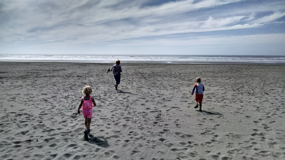The kids (and their mom) could not get to the beach fast enough. We had to drive all the way to the furthest west coastline in the contiguous US to get out of the smoke, but we made it.