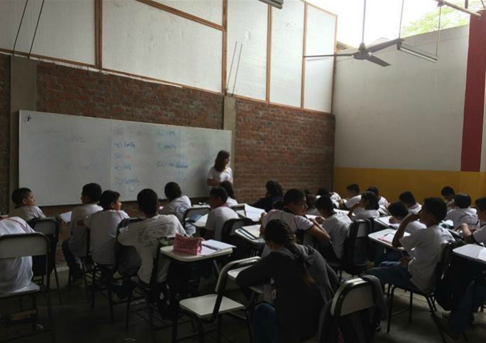 Augustinian Volunteers teaching in Peru