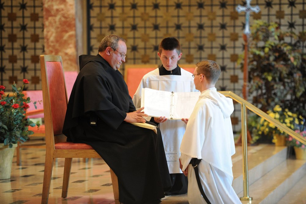 Brother Nick Mullarkey, O.S.A., professed his first Augustinian vows last year, in 2014