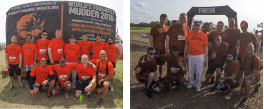 This year's class of Augustinian Novices participating in the Tough Mudder!