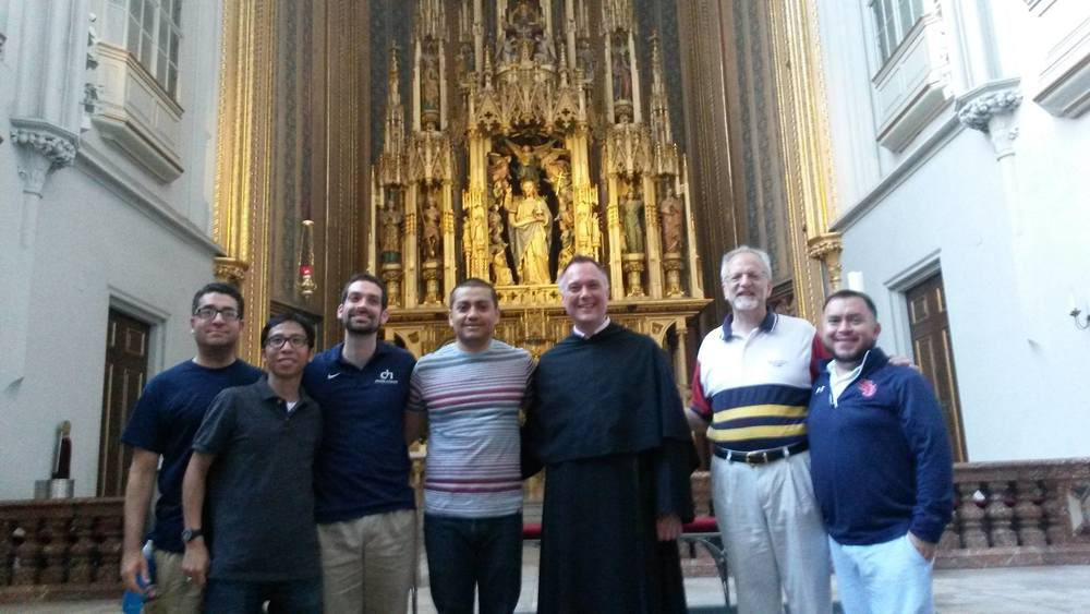 Augustinians from the United States visit Fr. Nikolaus Schachtner at the Augustinian Church in Vienna