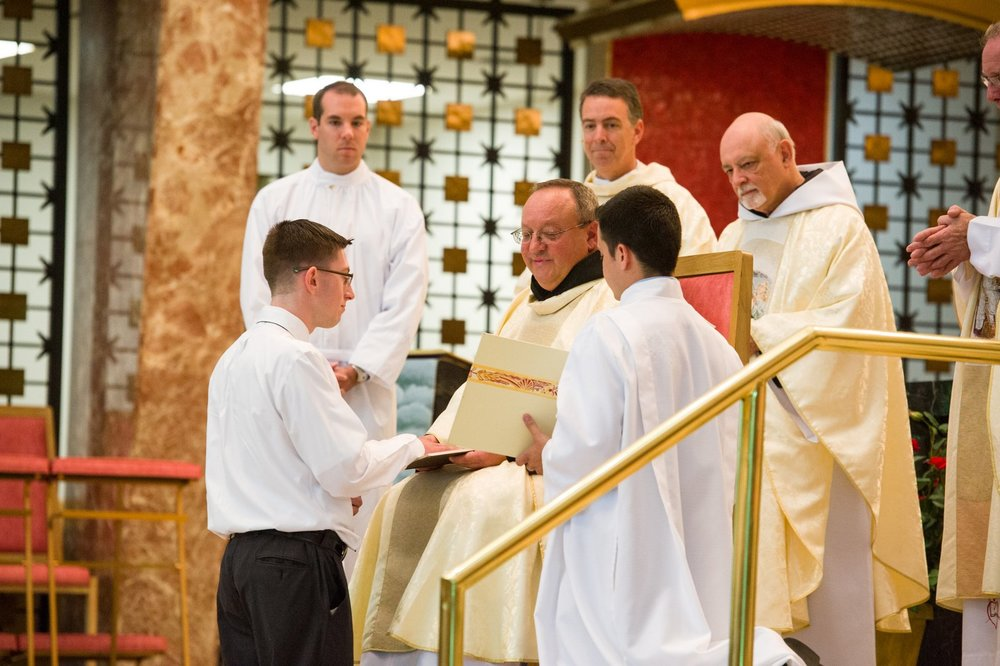 Bobby Carroll professes his first vows