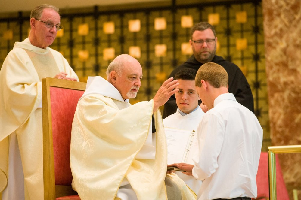 Dan Madden professes his first vows