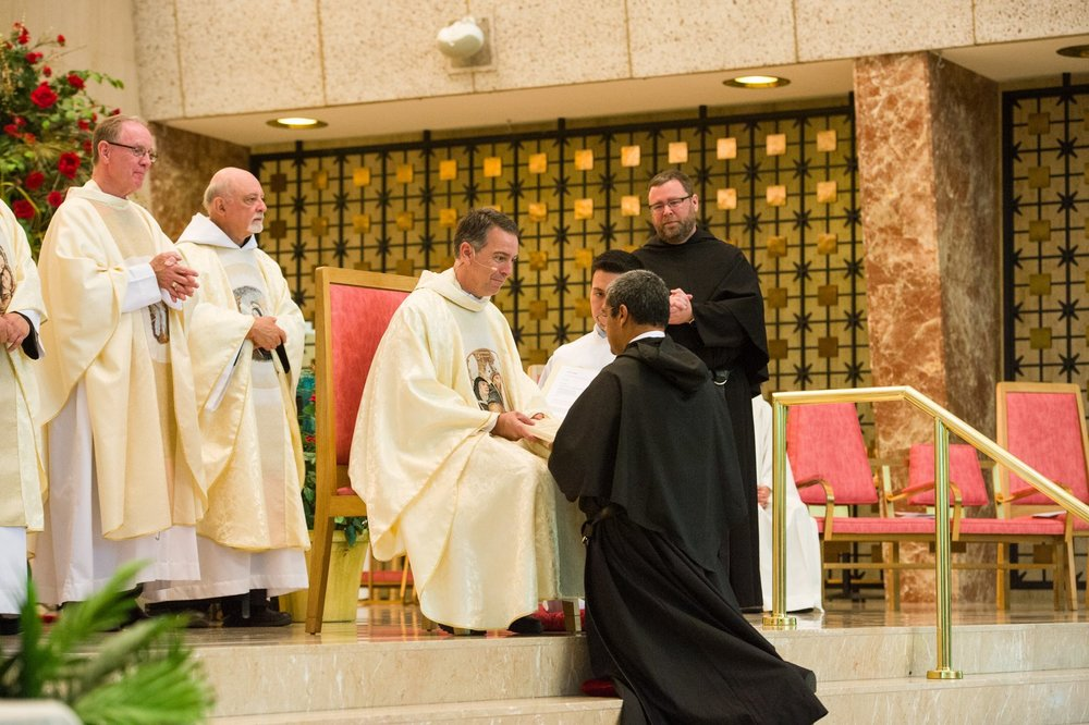 Each friar then received copy of Augustine's Rule and Constitutions of the Order