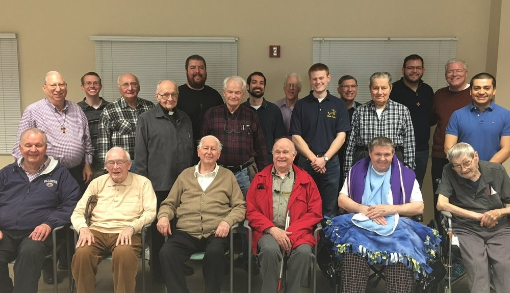 Several of our Augustinian men in formation visit the retired community of friars in Indiana