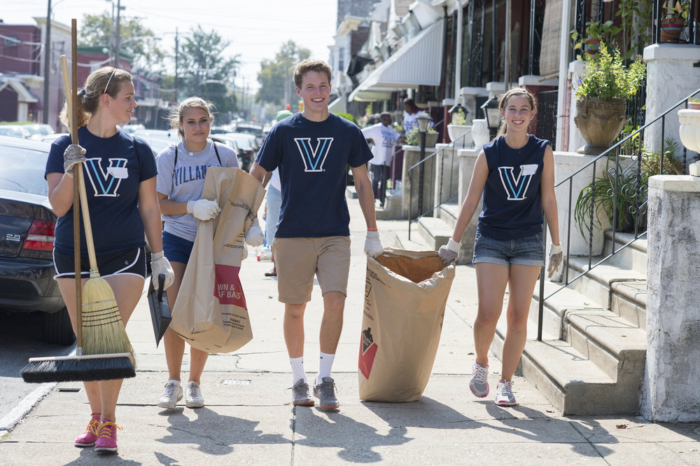 Students at Villanova University participate in annual St. Thomas of Villanova Day of Service