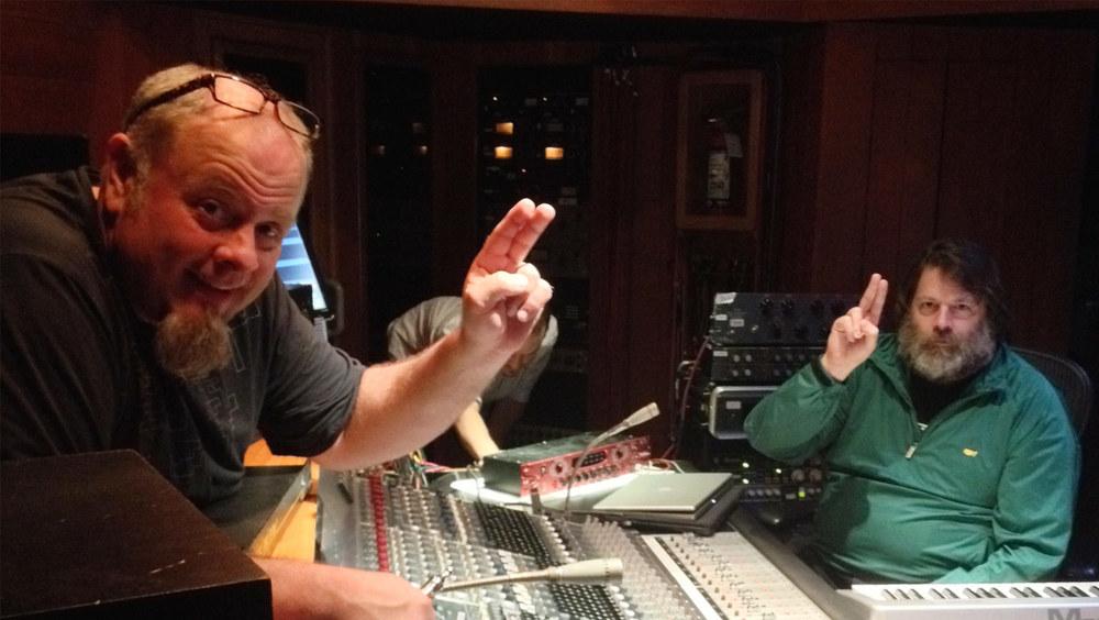 Brothers MadDog & Jon Dee in the studio.