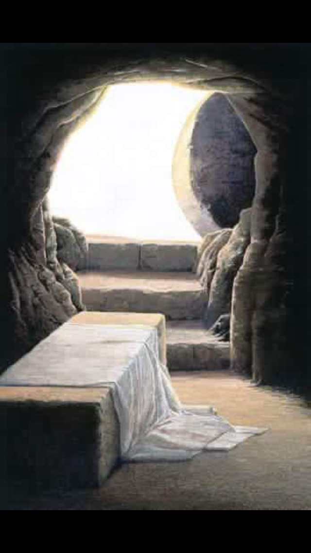 """He is not here, He has risen from the dead!"""