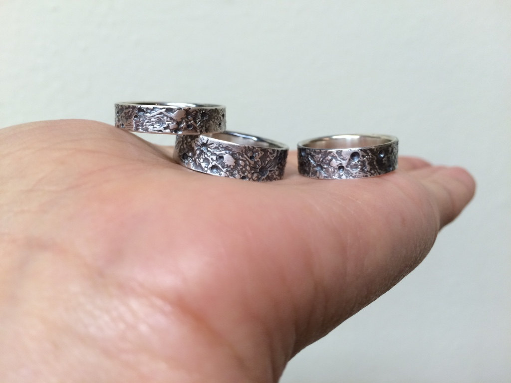 Moon Texture Band — Luana Coonen Jewelry