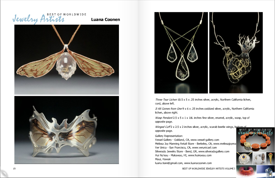 Two feature pages in  Best of Worldwide Jewelry Artists