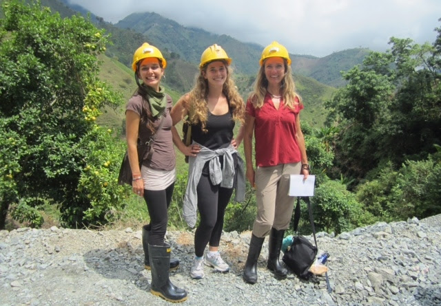 Jewelers Luana Coonen, Anna Bario, and Christine Dhein visiting the world's newest Fairmine certified gold mine in Iquida, Colombia