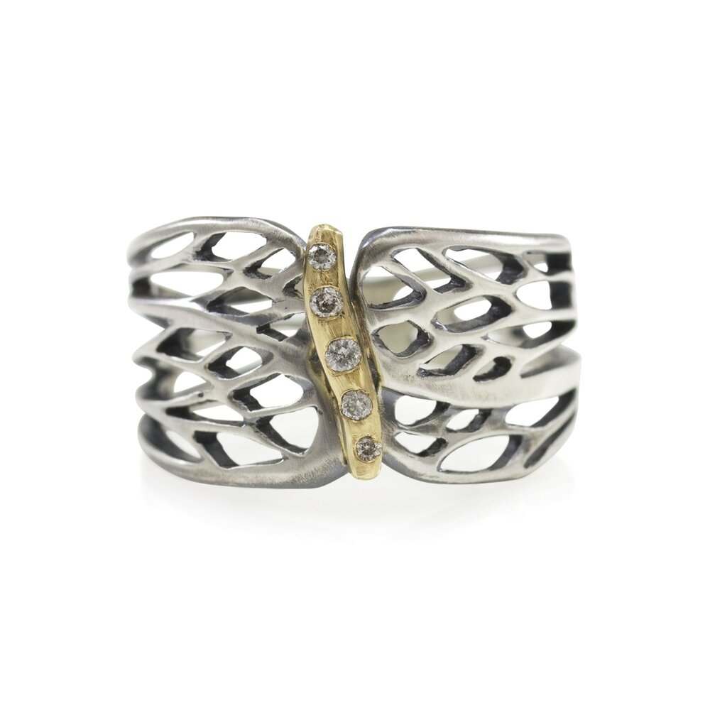 Winged Engagement Ring