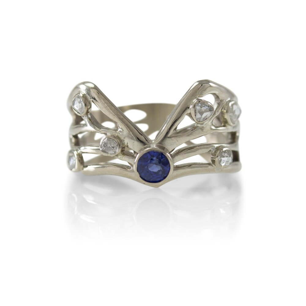 Hierloom Winged Sapphire Ring