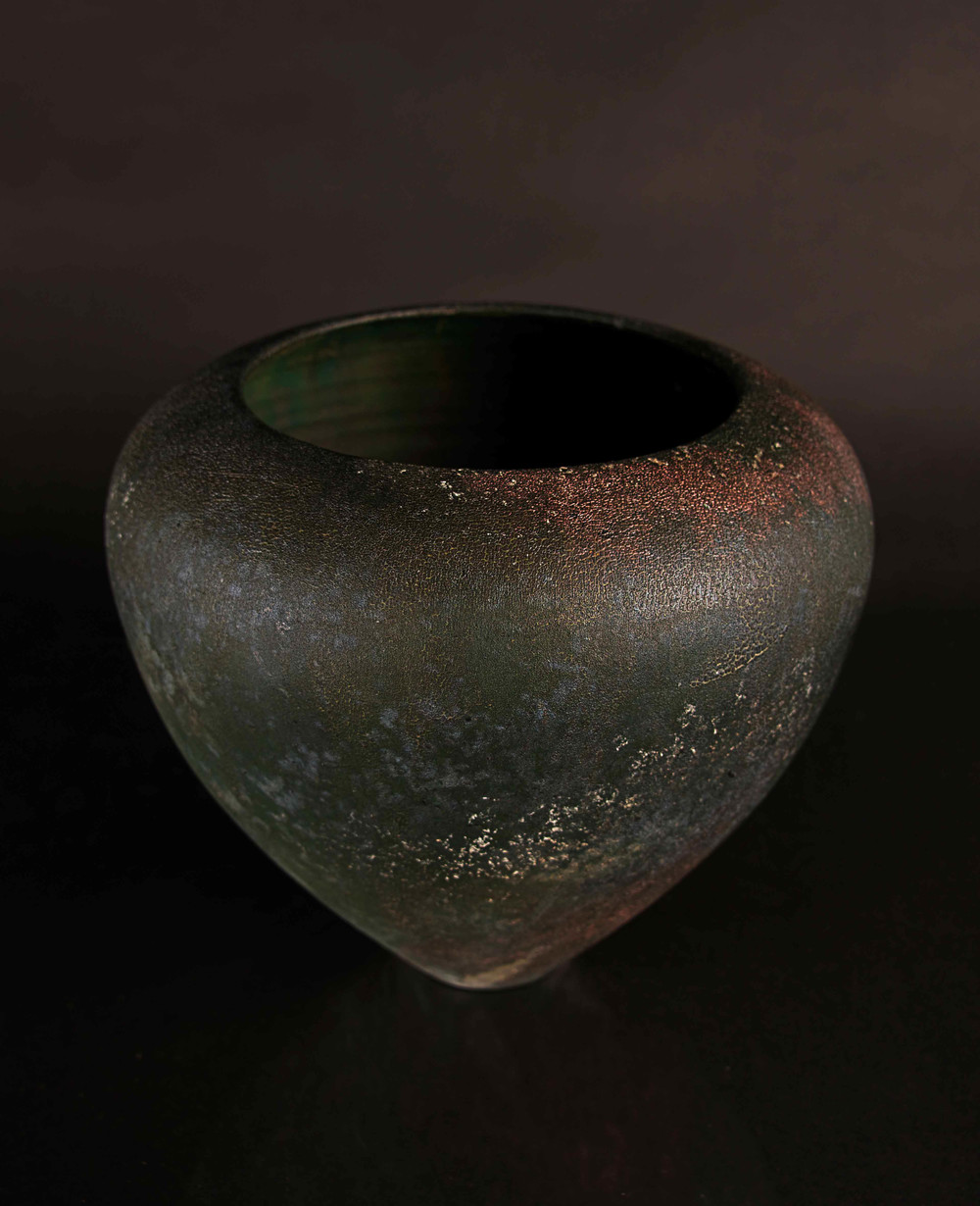 Copper Matt Raku Form 2013