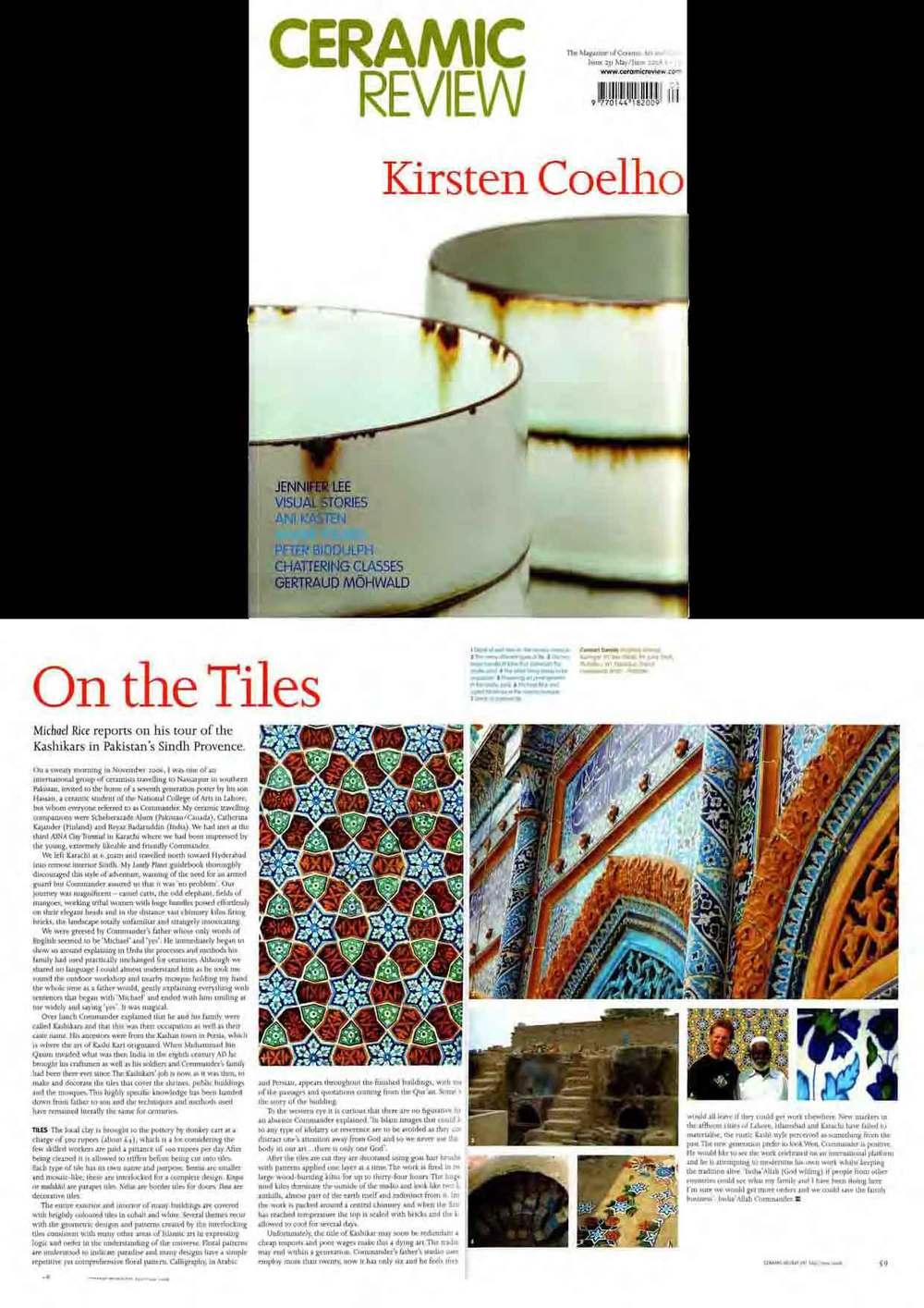 Ceramic Review article 2008