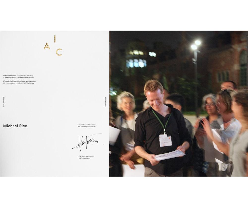 Receiving my International Academy of Ceramics Diploma in Barcelona, Sept 2016