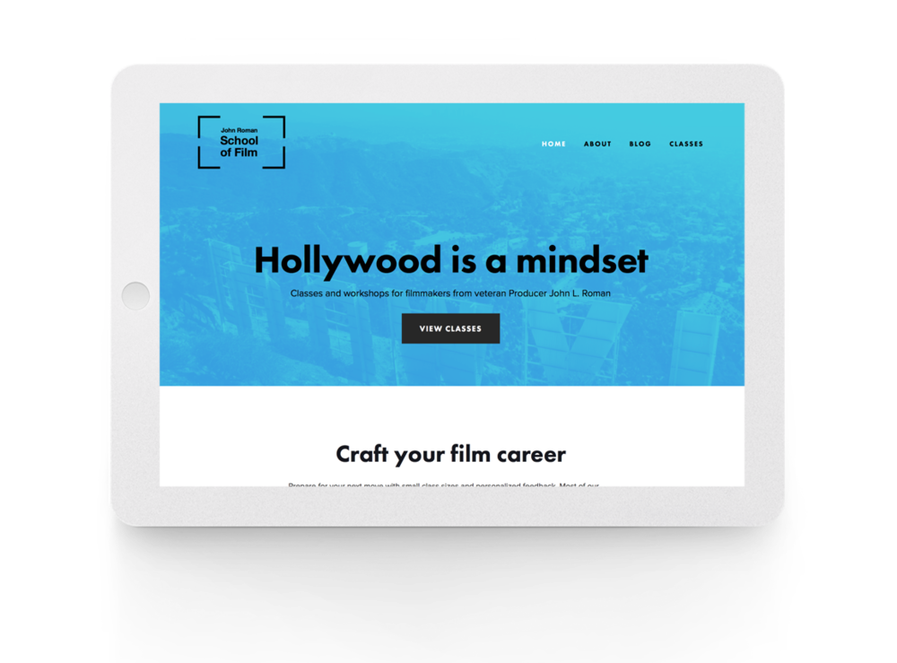 JR School of Film website - film school
