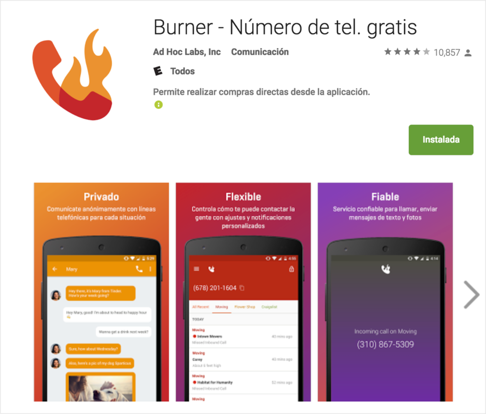 Burner on Google Play
