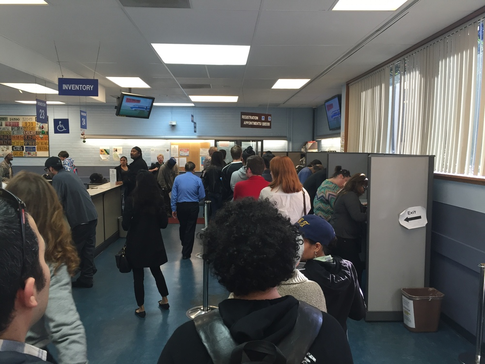 IMMERSIVE RESEARCH:  We visited the local DMV, interviewed clients waiting to be served  and even went through the experience of renewing a license.