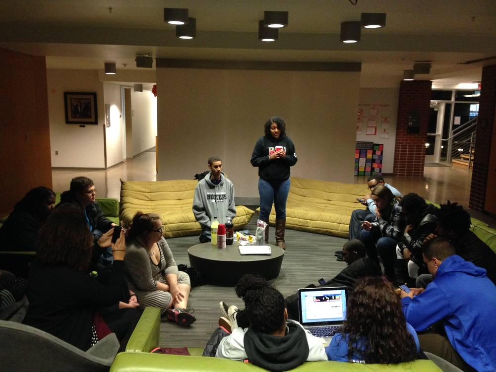 Pacific BSU invited LC students to their meeting and dinner afterwards.