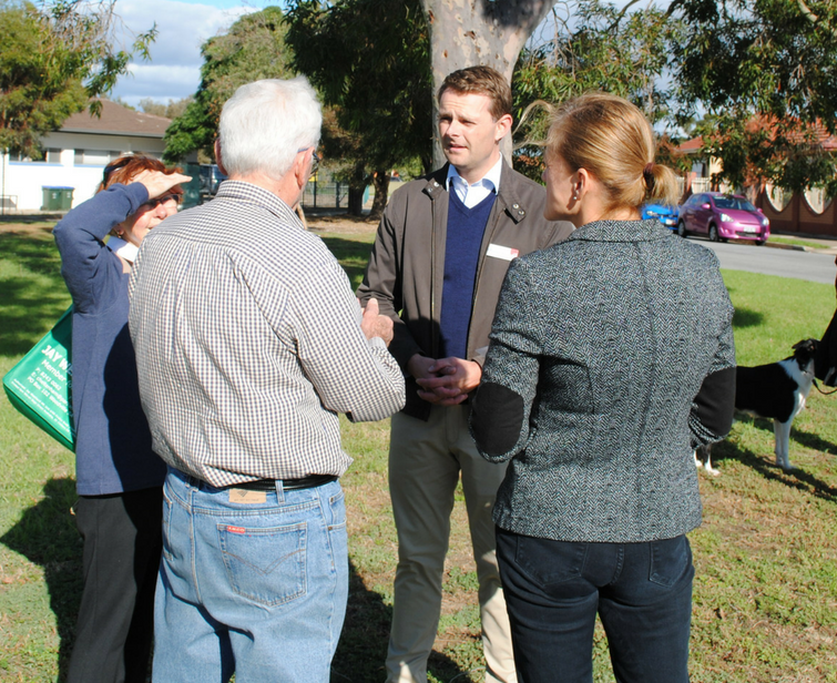 OUT & ABOUT - View all the photos of my Street Corner Meetings. Seniors Morning Tea's and Community Forums.