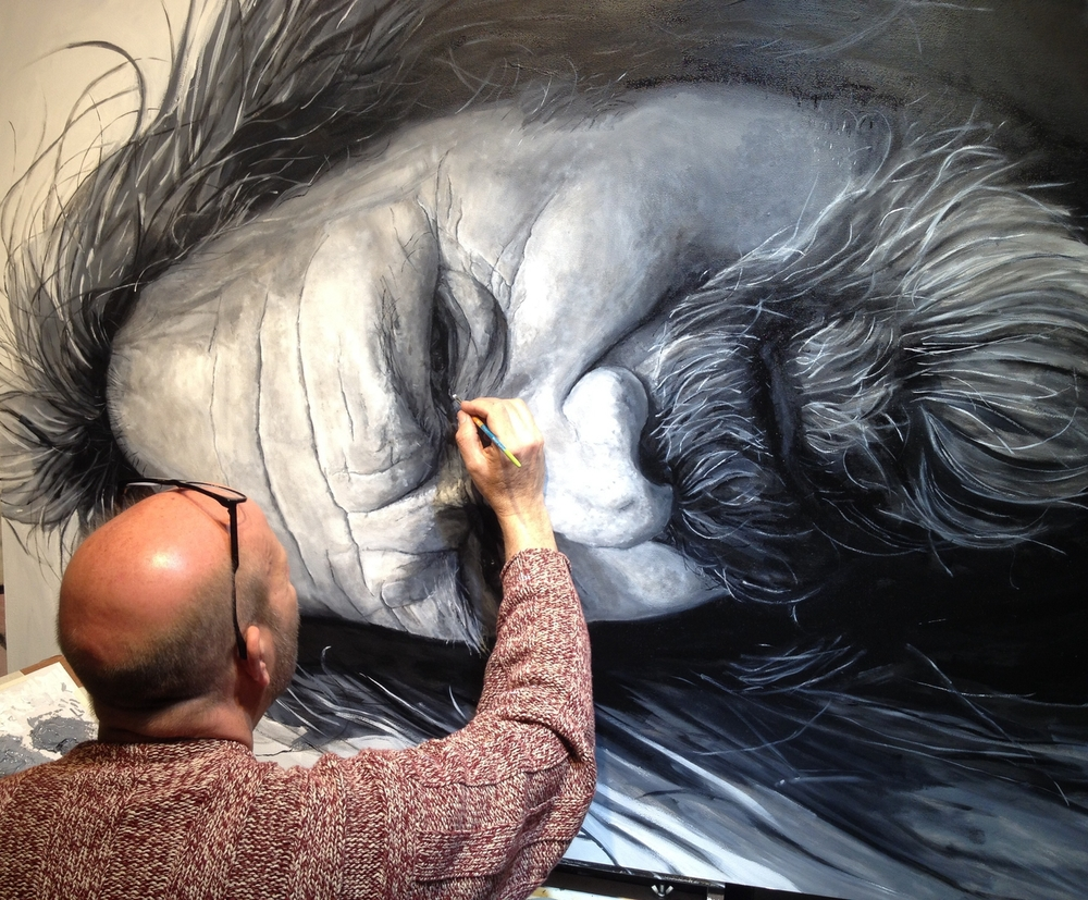 "Tom painting ""Ron"" 2015"