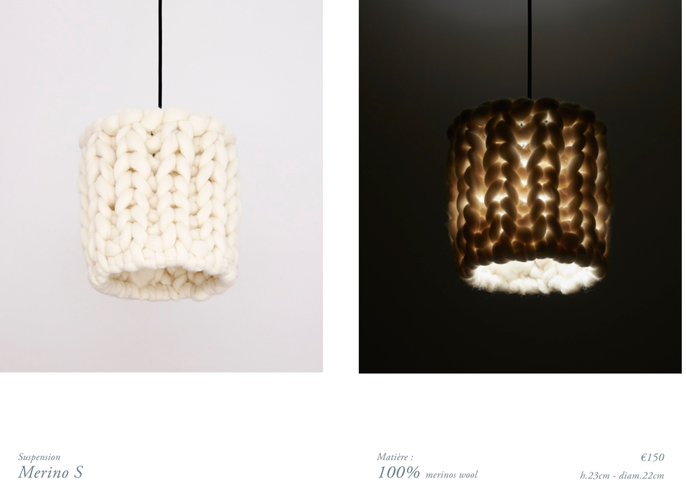 chunky merinos wool handmade lamp S.jpg