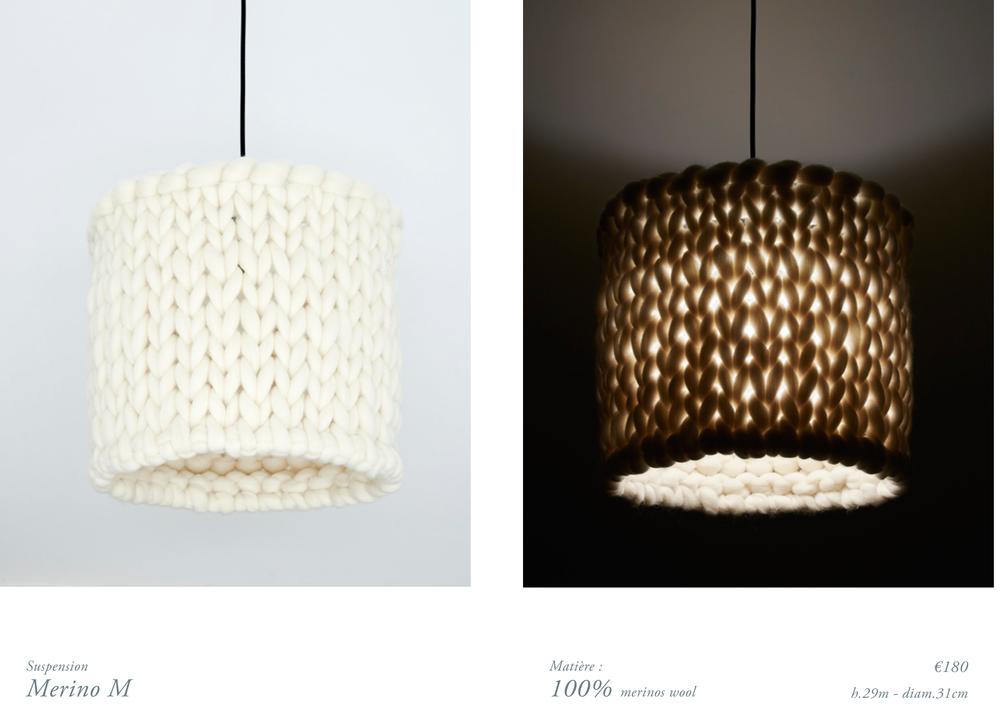 chunky merinos wool handmade lamp M.jpg