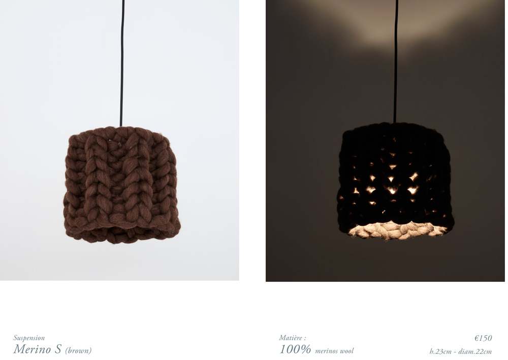 chunky merinos wool handmade lamp S brown.jpg