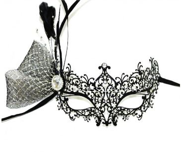 Amp up the excitement with accessories  Adele Laser Cut Metal Masquerade Mask /  Hustler