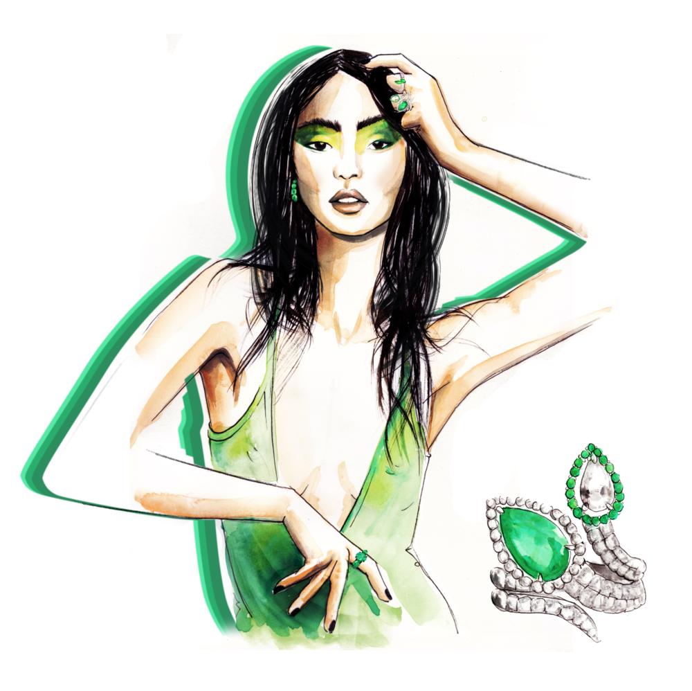 emerald plukka illustration hong kong