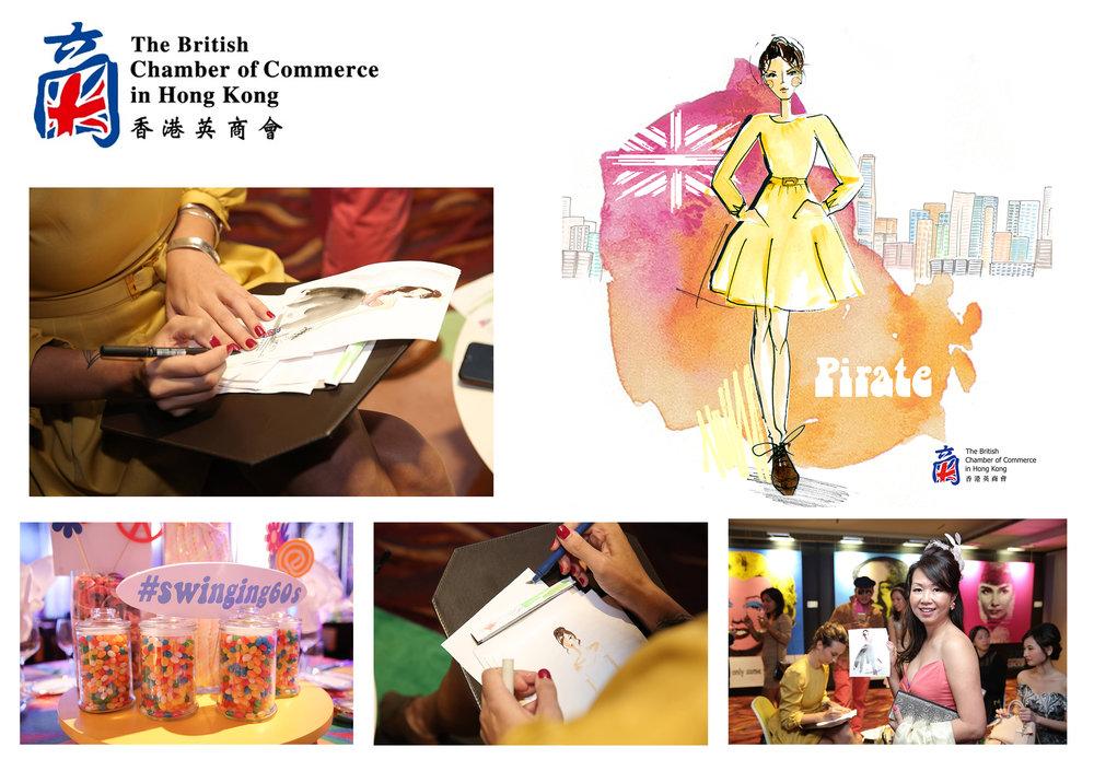 Live illustration in Hong Kong