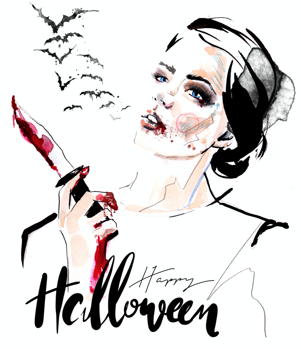 Halloween fashion illustration
