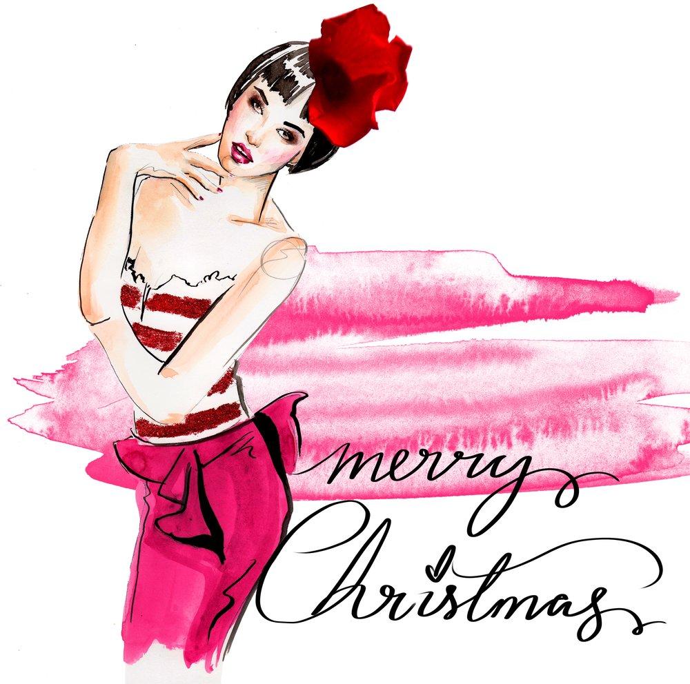 Christmas fashion illustration