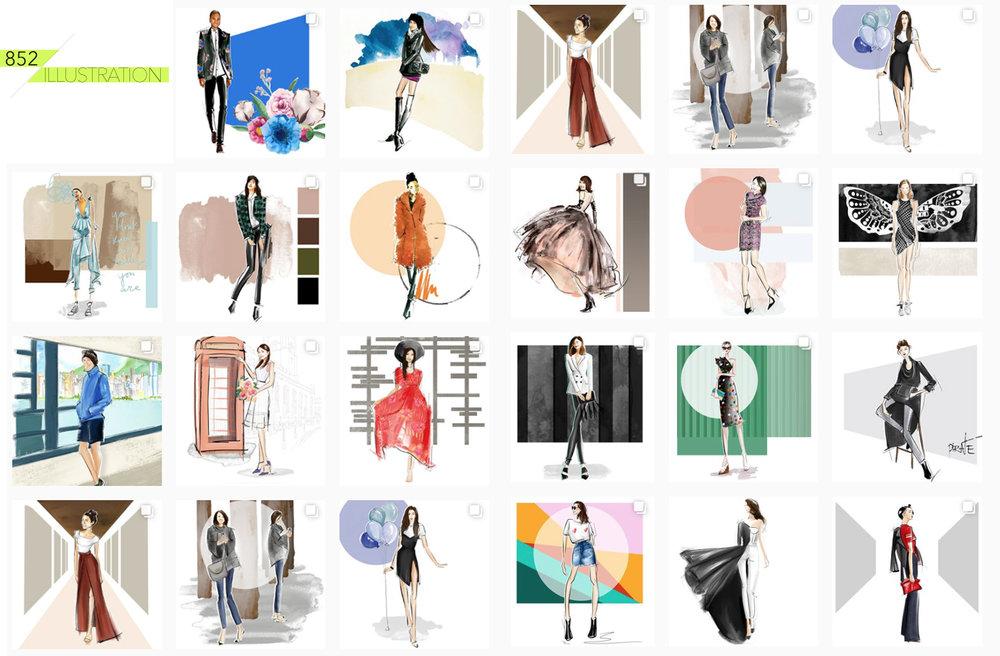 852 Illustration - fashion illustration by fashion illustrator Pirate.